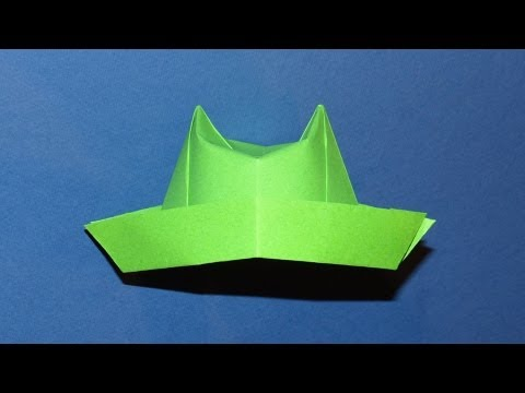 instructions to make a paper hat