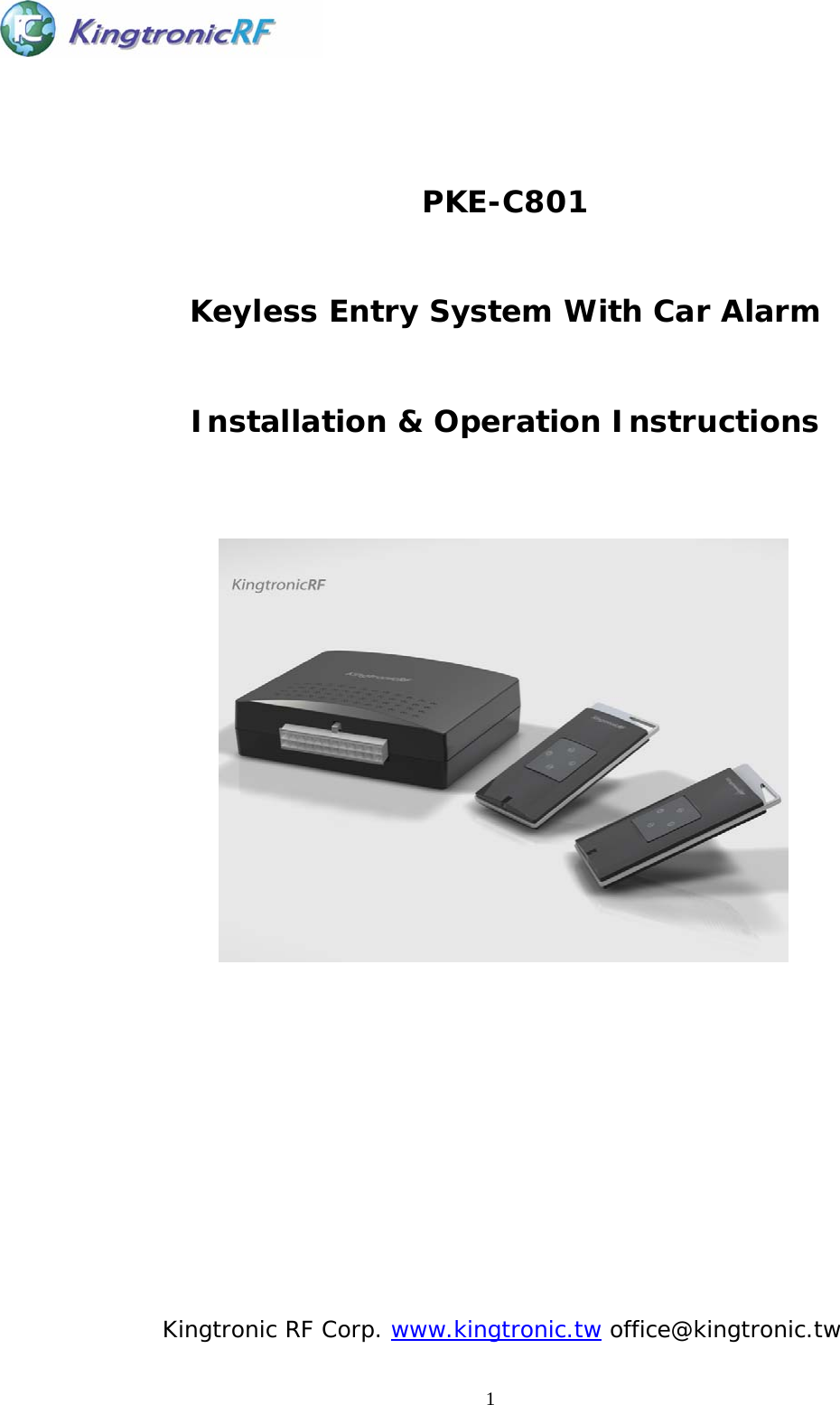 keyless entry installation instructions