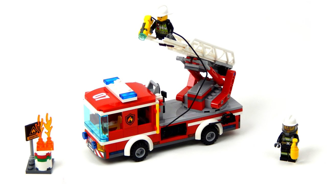 lego city fire truck 60107 instructions