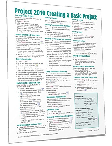 microsoft project 2010 instructions