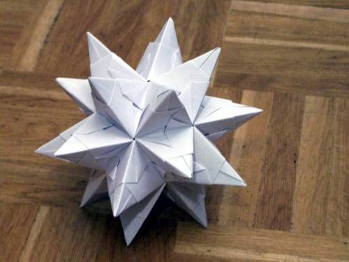 origami 3d modular star instructions