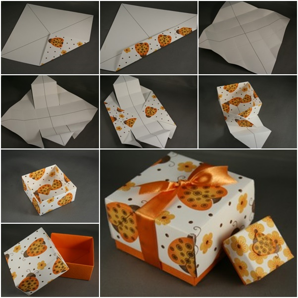 origami box with lid printable instructions