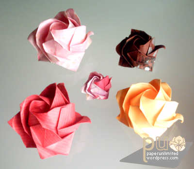 origami kawasaki rose instructions step by step