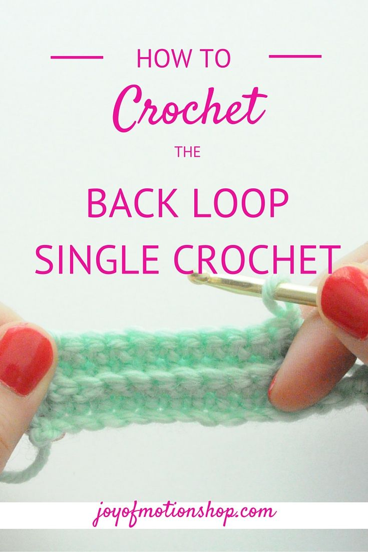 single crochet stitch instructions