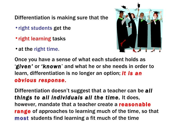 what does it mean to differentiate instruction