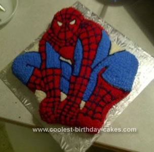 wilton spiderman cake pan instructions
